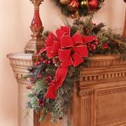 Floral Home Decor Christmas Mantle Corner Piece