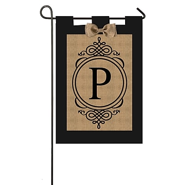Evergreen Flag & Garden Monogram Garden Flag; A