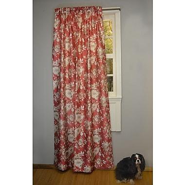 Curtain Chic Cliff Walk 54''W x 24''L Flounce Valance; Pomegranate