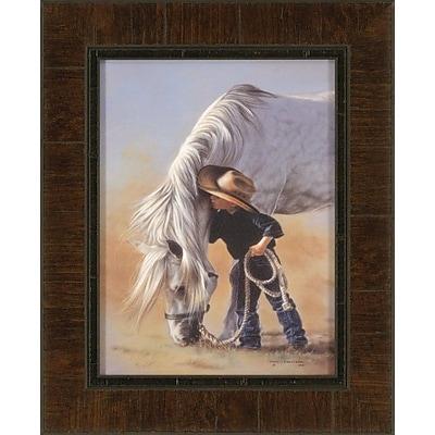 Ashton Wall D cor LLC Ashton Art & D cor Little Whispers Framed Painting Print