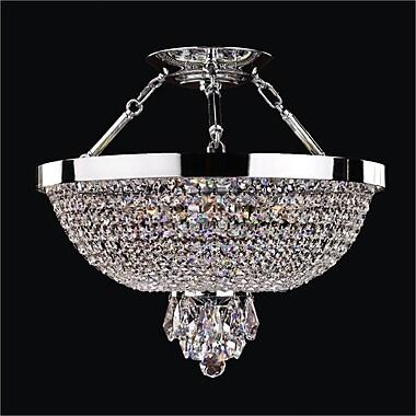 Glow Lighting Modern Times 5-Light Semi-Flush Mount; Signature Clear Crystal