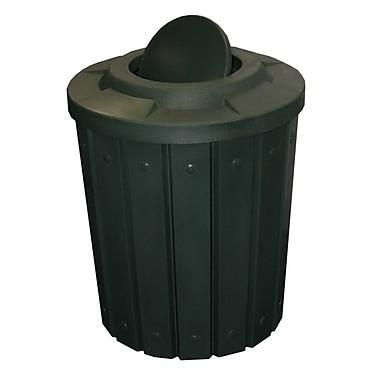 Kolorcans Signature Receptacle 42 Gallon Swing Top Trash Can; Black