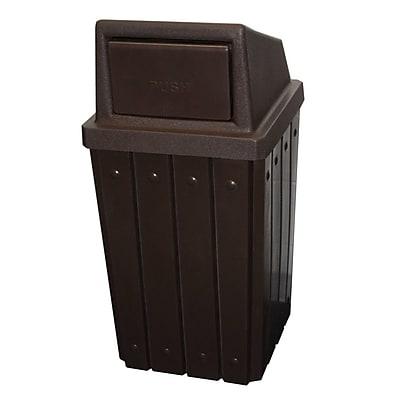 Kolorcans Signature Receptacle 32 Gallon Swing Top Trash Can; Beige Granite