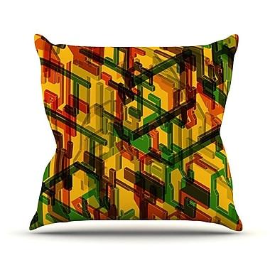 KESS InHouse Three Dee by Roberlan Throw Pillow; 18'' H x 18'' W x 3'' D