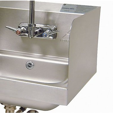 Advance Tabco Two High Welded Side Splashes for Bowl w/ Deck Mount Faucet