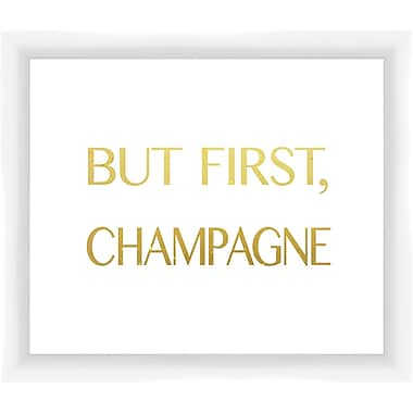 PTM Images But First Champagne I Framed Textual Art