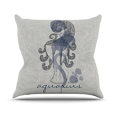 KESS InHouse Belinda Gillies Throw Pillow; Libra