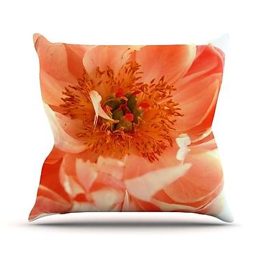 KESS InHouse Blushing Peony by Pellerina Design Throw Pillow; 18'' H x 18'' W x 1'' D