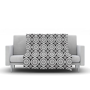 KESS InHouse Circles by Nandita Singh Fleece Throw Blanket; 40'' H x 30'' W x .25'' D