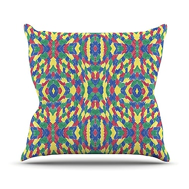 KESS InHouse Energy Abstract by Empire Ruhl Throw Pillow; 16'' H x 16'' W x 1'' D