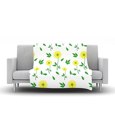 KESS InHouse Daisy by Louise Fleece Throw Blanket; 60'' H x 50'' W x 1'' D