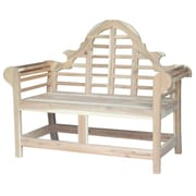 International Concepts Marlborough Wood Entryway Bench; Unfinished
