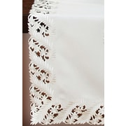Xia Home Fashions Laurel Embroidered Cutwork Tablecloth