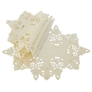 Xia Home Fashions Victorian Lace Embroidered Cutwork Placemat (Set of 4); Ivory