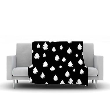 KESS InHouse Raindrops by Suzanne Carter Fleece Throw Blanket; 40'' H x 30'' W x 1'' D
