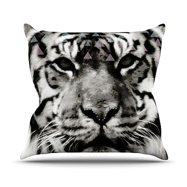 KESS InHouse Tiger Face by Suzanne Carter Animal Throw Pillow; 18'' H x 18'' W x 3'' D
