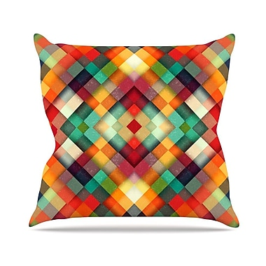 KESS InHouse Time Between by Danny Ivan Geometric Abstract Throw Pillow; 16'' H x 16'' W x 1'' D