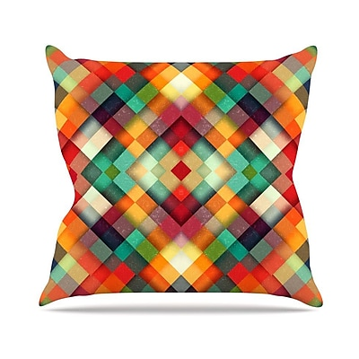 KESS InHouse Time Between by Danny Ivan Geometric Abstract Throw Pillow; 26'' H x 26'' W x 1'' D