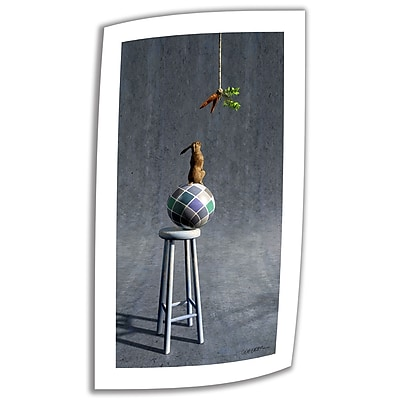 ArtWall Equilibrium II' by Cynthia Decker Vintage Advertisement on Rolled Canvas; 36'' H x 18'' W