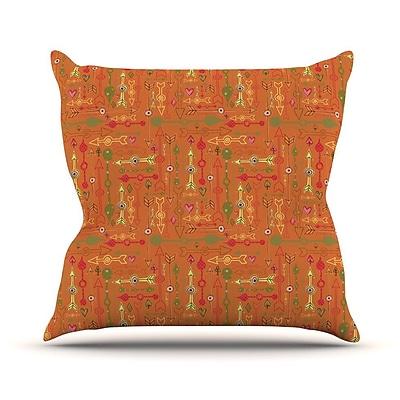 KESS InHouse Vintage Arrows by Jane Smith Throw Pillow; 26'' H x 26'' W x 5'' D
