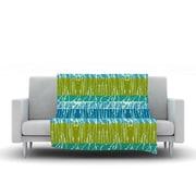 KESS InHouse Ocean Splatter by Nina May Fleece Throw Blanket; 60'' H x 50'' W x 1'' D