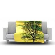 KESS InHouse Tree Sky by Robin Dickinson Fleece Throw Blanket; 60'' H x 50'' W x 1'' D