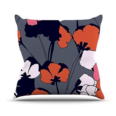 KESS InHouse Pop Flowers by Gabriela Fuente Throw Pillow; 16'' H x 16'' W x 1'' D