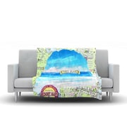 KESS InHouse Tybee Island by Rosie Fleece Throw Blanket; 80'' H x 60'' W x 1'' D