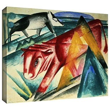 ArtWall 'Animals' by Franz Marc Painting Print on Wrapped Canvas; 24'' H x 32'' W