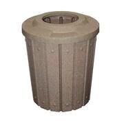 Kolorcans Signature Receptacle 42 Gallon Trash Can; Brown Granite
