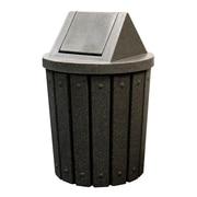 Kolorcans Signature Receptacle 42 Gallon Swing Top Trash Can; Green