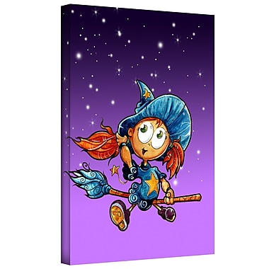 ArtWall 'Learning to Fly 3' by Luis Graphic Art on Wrapped Canvas; 48'' H x 36'' W