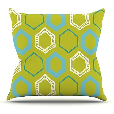 KESS InHouse Hexy Lime by Laurie Baars Throw Pillow; 18'' H x 18'' W x 3'' D