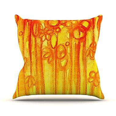 KESS InHouse Summer Sentiments by Ebi Emporium Throw Pillow; 16'' H x 16'' W x 3'' D