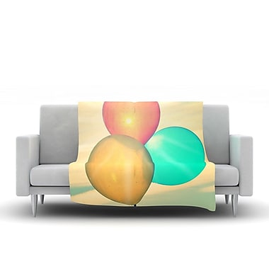 KESS InHouse Balloons by Robin Dickinson Fleece Throw Blanket; 60'' H x 50'' W x 1'' D