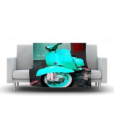 KESS InHouse Vespa I by Oriana Cordero Fleece Throw Blanket; 60'' H x 50'' W x 1'' D