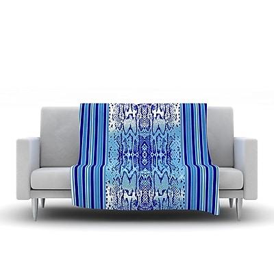KESS InHouse Delf Snake by Nina May Fleece Throw Blanket; 60'' H x 50'' W x 1'' D