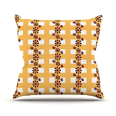 KESS InHouse Mushroom Repeat by Jane Smith Throw Pillow; 20'' H x 20'' W x 4'' D