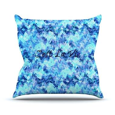 KESS InHouse C'est La Vie Revisited by Ebi Emporium Throw Pillow; 18'' H x 18'' W x 3'' D