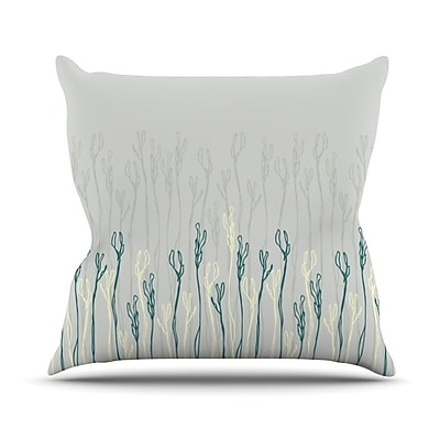 KESS InHouse Dainty Shoots by Emma Frances Throw Pillow; 18'' H x 18'' W x 1'' D
