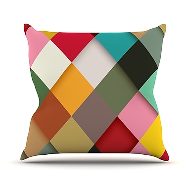 KESS InHouse Colorful by Danny Ivan Throw Pillow; 20'' H x 20'' W x 1'' D