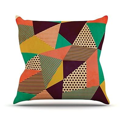 KESS InHouse Geometric Love II by Louise Machado Throw Pillow; 26'' H x 26'' W x 5'' D