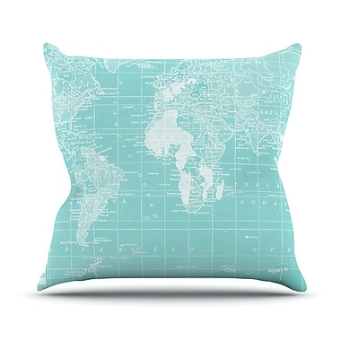 KESS InHouse Welcome to my World by Catherine Holcombe Throw Pillow; 26'' H x 26'' W x 1'' D