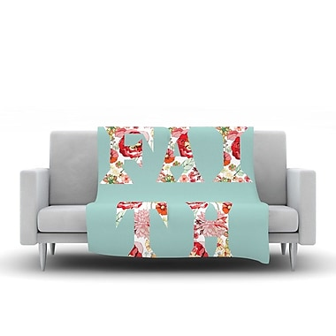KESS InHouse Faith by Suzanne Carter Fleece Throw Blanket; 40'' H x 30'' W x 1'' D