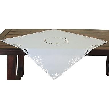Xia Home Fashions Arietta Embroidered Cutwork Table Topper