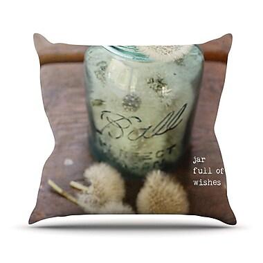KESS InHouse Jar of Wishes by Debbra Obertanec Fuzzy Throw Pillow; 16'' H x 16'' W x 1'' D