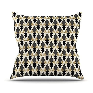 KESS InHouse Glitter by Nika Martinez Geometric Throw Pillow; 20'' H x 20'' W x 4'' D