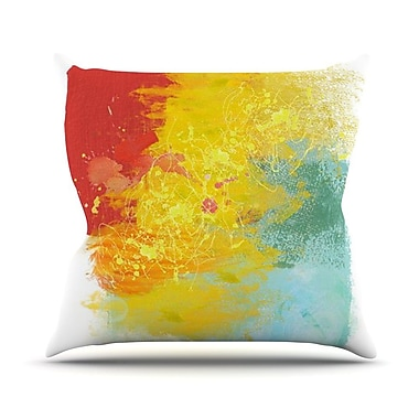 KESS InHouse Medley by Oriana Cordero Colorful Paint Throw Pillow; 18'' H x 18'' W x 3'' D