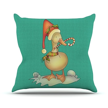 KESS InHouse Xmas Duck by Carina Povarchik Throw Pillow; 20'' H x 20'' W x 4'' D