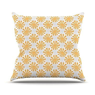 KESS InHouse Sunburst by Apple Kaur Designs Throw Pillow; 20'' H x 20'' W x 4'' D
